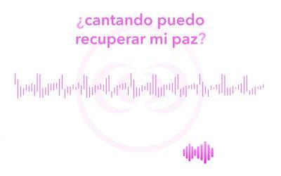 ¿cantando puedo recuperar mi paz?